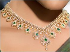 """Muira""...only $14,400 or P633,600!! Designer 17.52ct diamond & Emerald Necklace /14K Gold! Imported, world-class quality, not pre-owned, not pawned, not stolen. We deliver worldwide <3"