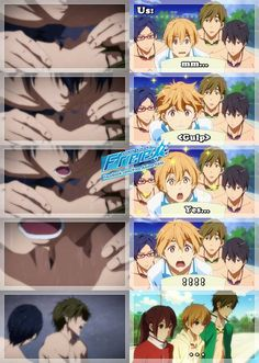 Free! ( this scene was so intense and funny )
