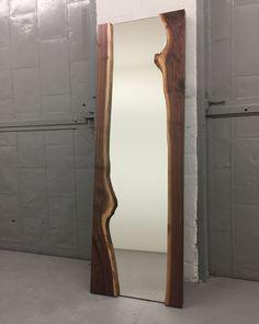 Live Edge Large Floor Mirror | Floor mirror, Freestanding mirrors ...