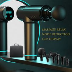 POWCAN Massage gun with LCD display Deep muscle relief Fascia gun Sports therapy Massager Body relaxation electric Massager Muscle Fascia, Neck Headache, Sports Therapy, Back Posture Corrector, Inflammation Causes, Upper Back Pain, Massage Machine, Massage Tips, Health And Beauty