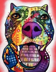 Pit Bull (artwork by Dean Russo)