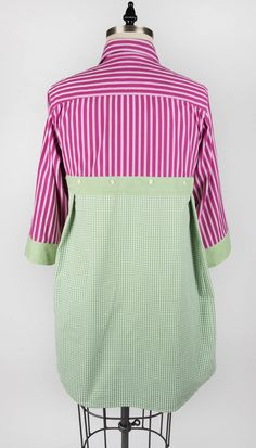 """From Paganoonoo.com. This is the back of a """"Patti"""" garment make using a Paganoonoo upcycle sewing pattern"""