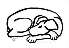 JACQUELINE DITT - Dog - Black A3 sign.limit.Original Grafik mittelgr. Hund Bild