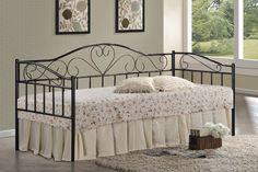 Dizajnová kovová posteľ PALAWAN II je vhodná do dievčenských a študentských izieb. Kovová konštrukcia je s dekoračnými prvkami. Čierne farebné prevedenie. Súčasťou postele je aj lamelový rošt. Palawan, Bed, Furniture, Home Decor, Decoration Home, Stream Bed, Room Decor, Home Furnishings, Beds