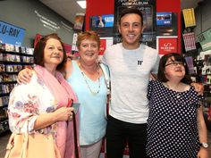 Nathan carter posing with fans at Golden discs in Whitewater Shopping Centre Golden Discs, Hanging Out, Lily Pulitzer, Centre, Fans, Shopping, Dresses, Fashion, Vestidos