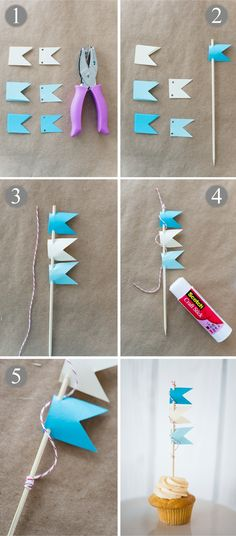 Nautical Cupcake DIY Project | Bayside Bride