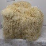 tibetan sheep fur hair throw