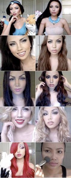 I came across Promise Tamang-Phan when I was looking for Halloween costume ideas one year & I have been following her ever since. She is sooooo talented! She has the most amazing transformations! You have to see it to believe it! The power of make-up I tell ya!