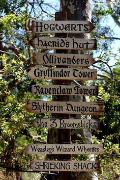 Far Away Signs - Harry Potter Signs / Hogwarts Signs