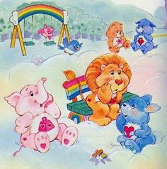 Care Bear Cousins 1980s Childhood, Childhood Memories, Bear Pictures, Cute Pictures, Care Bear Tattoos, Care Bears Vintage, Care Bear Party, Happy Cartoon, Rainbow Brite