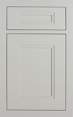 Rittenhouse Recessed door style by #WoodMode, shown in Classic Opaque Nordic White on MDF.