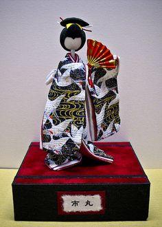 Ichimaruchan | Washi Ningyo by BooCoo washi art Visit www.bo… | Flickr Washi, Origami, Kimono Pattern, Japanese Paper, Japanese Design, Polymer Clay Art, Japanese Culture, Paper Dolls, Nihon