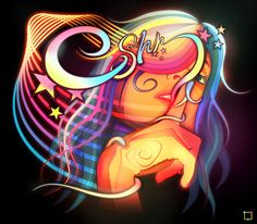Outstanding Neon illustrations by Genaro Desia aka Surround