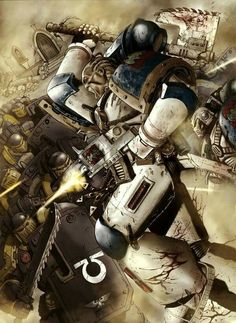 Warhammer 40,000   World Eater's Rampager Squad vs Ultramarine Tactical Marine Squad with Combat Shields and Chainswords