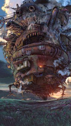 ⏰PT Ghibli Studio Hayao Miyazaki Masterpiece, Wooden Jigsaw Puzzle, Totoro Animation Stills Fine Cut & Fit Boxed Toys Game Art For Adults & Kids ( color : K , Size : ) Film Manga, Film Anime, Anime Art, Hayao Miyazaki, Art Studio Ghibli, Howl's Moving Castle, Howls Moving Castle Wallpaper, Moving House, Film Animation Japonais