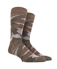 Men's Socks in Soft Cotton - Camouflage - Brown, Beige and Green - SockStyle.co.uk