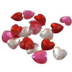 Sugar Cake Jewels - Edible Sugar Heart Assortment, Set of 18
