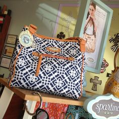We love this Spartina tote. Found at I'm Just Sayin at Broadway & Waterloo in North Edmond.