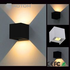 Modern Cube LED Wall Lamp Up And Down 7W Surface Mounted Outdoor Waterproof IP65 Aluminum