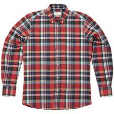 Maison Kitsune Classic B.D. Check Shirt (Red & Green) GBP209