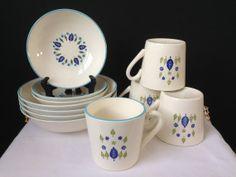 Marcrest  Swiss Alpine  Bowls and Cups  11 Pieces  Mid by nddevens, $40.00