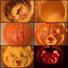 Celebrate Halloween with this great red panda pumpkin carving tutorial by Rhoda Lucey @ArtByRhoda.