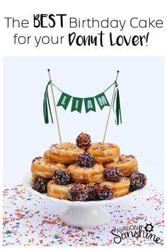 Cake Gallery: The Donut Cake The best birthday cake for your donut lover! Donut birthday party is such a fun idea. Birthday Breakfast, Birthday Brunch, Happy Birthday, Cool Birthday Cakes, Breakfast For Kids, Special Birthday, Breakfast Ideas, Card Birthday, Birthday Wishes