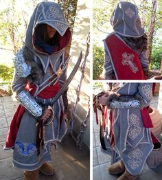 Amazing machine embroidered Assassin's Creed costume