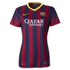 Barcelona Women's Home Soccer Jersey Small
