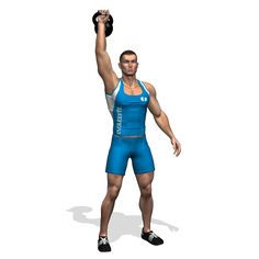 STANDING KETTLEBELL PRESS SINGLE ARM INVOLVED MUSCLES DURING THE TRAINING SHOULDERS