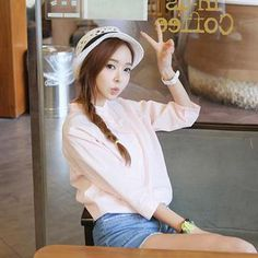 Buy 'Envy Look – Mandarin-Collar 3/4-Sleeve Top' with Free International Shipping at YesStyle.com. Browse and shop for thousands of Asian fashion items from South Korea and more!