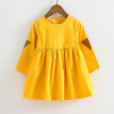 Kids Faux Leather Panel Dress from #YesStyle <3 Hanabi YesStyle.com