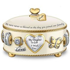 Music Box: Daughter-In-Law, I Wish You Personalized Music Box