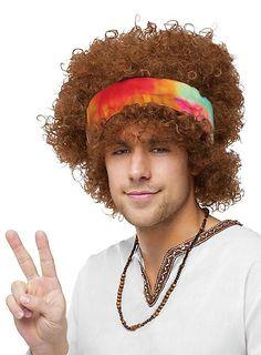 Afro Hippie Perücke mit Stirnband ♥ | maskworld.com