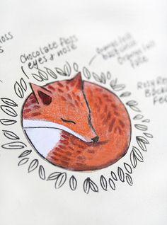 fox inking from ink caravan on flickr.