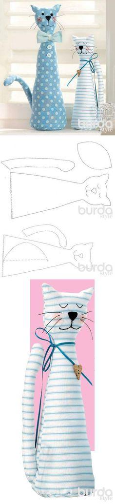 Кошечки для детской комнаты: шьем игрушки / Мастер-классы / Burdastyle | игрушки | Постила