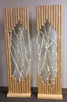Set of two bamboo stands. This item is light weight and very easy to move. This will add beautify and style to any settings. Product Description • Product Dimen