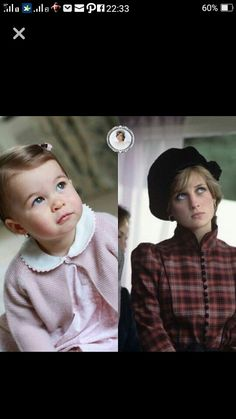 Princess Charlotte of Cambridge and her late grandmother Diana, Princess of Wales