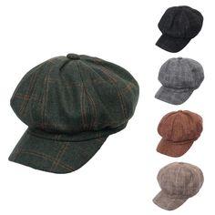 8368d956bde0d Barato Miss m 2018 retro mulheres beret chapéus de inverno para as mulheres  chapéu octogonal homens