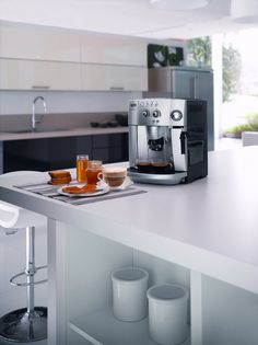 A Sophisticated All In One Coffee Maker : Delonghi Coffee Machine Kitchen All In One Coffee