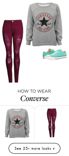 """Bez naslova #109"" by amilaa0304 on Polyvore featuring Converse"
