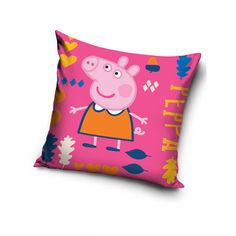 This pretty Peppa Pig Cushion is the perfect accessory for a Peppa themed room or as an accompaniment to your Peppa Pig duvet cover. Kids Bedding Sets, Duvet Sets, Peppa Pig Merchandise, Ready Bed, Peppa Pig Family, Double Duvet Set, Slumber Parties, Bedroom Themes, Duvet Covers