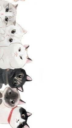 Trendy Wall Paper Cat Kawaii Phone Wallpapers Source by videos wallpaper cat cat memes cat videos cat memes cat quotes cats cats pictures cats videos Art And Illustration, Cat Illustrations, Landscape Illustration, Cat Wallpaper, Cute Wallpaper For Phone, Unique Wallpaper, Painting Wallpaper, Cartoon Wallpaper, Mobile Wallpaper