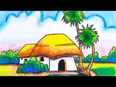 Hi friends, Welcome to Tiny Prints Art Academy, In today's episode we will learn how to draw a House/Draw house easy for kids. Bird Drawing For Kids, Landscape Drawing For Kids, Scenery Drawing For Kids, Easy Drawings For Kids, Oil Pastel Paintings, Oil Pastel Art, Oil Pastel Drawings, Cool Art Drawings, Bird Drawings
