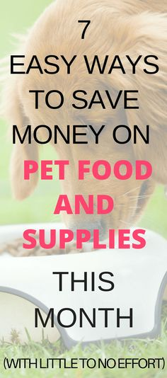 Want to save money on pet food and supplies this month? Learn where to find pet food coupons, how to get cash back from your favorite pet supply stores or save directly at the register with these money saving tips.