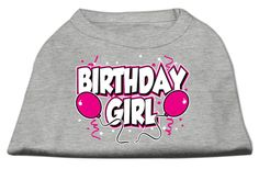 Mirage Pet Products Puppy Safety Dress Apparel Dog Clothing Accessory Birthday Girl Screen Print Shirts Grey Large (14)