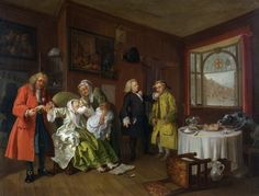 Marriage a la Mode 6 - The Lady's Death by William Hogarth 1743