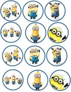 Minion Edible Image Cupcake Toppers by ShoreCakeSupply on Etsy Minions Birthday Theme, Minion Theme, Minion Party, Geek Birthday, Birthday Cakes, Minion Cupcake Toppers, Minion Cupcakes, Minion Coloring Pages, Minion Stickers