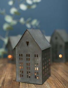 Zinc Tealight House - a magical touch for Christmas!