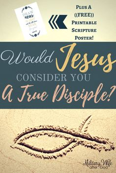 Would Jesus consider you a true Disciple? A true follower of His word? How can we apply what the Bible defines as a True Disciple in today's world?